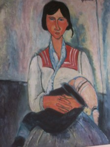 Gipsy girl with child by Modigliani (copy)