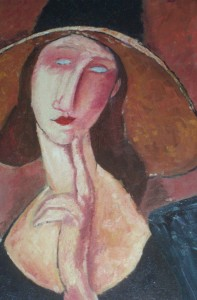Woman with hat , Modigliani(copy)