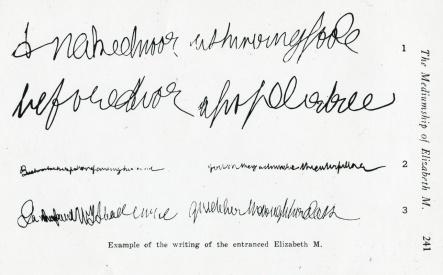 UM_pc012_A79-041_008_0007_005_0001 - Example of Elizabeth trance automatic writing